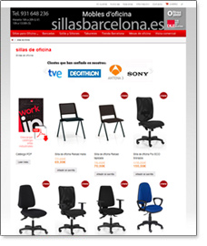 tienda virtual sillas barcelona